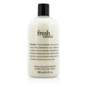 PhilosophyFresh Cream Shampoo, Bath & Shower Gel 480ml/16oz
