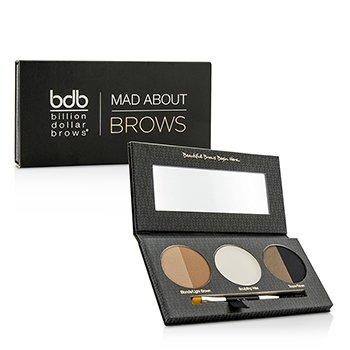 Billion Dollar Brows Mad About Brows Palette: 2x Brow Powder 1x Sculpting Wax 1x Mini Brow Brush 4pcs