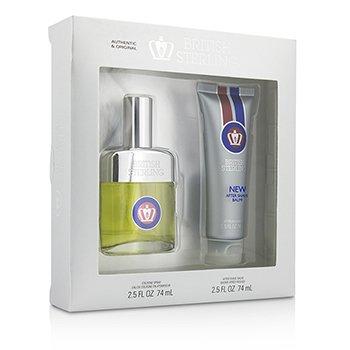 Dana British Sterling Coffret: Cologne Spray 74ml/2.5oz + After Shave Balm 74ml/2.5oz  2pcs