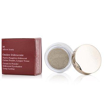 Clarins Cie� do powiek Ombre Iridescente Cream To Powder Iridescent Eyeshadow - #04 Silver Ivory  7g/0.2oz