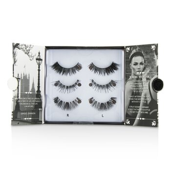 Eylure The London Edit False Lashes Multipack - # 121  # 117  # 154 (Adhesive Included) 3pairs