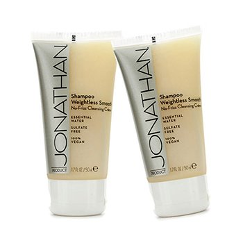 Jonathan ProductWeightless Smooth No-Frizz Cleansing Creme Champ� Cremoso antiencrespado 2x50ml/1.7oz