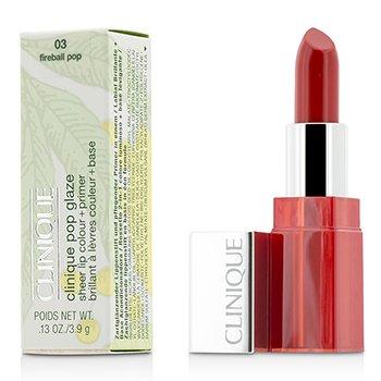 Clinique Pop Glaze Sheer Lip Colour + Primer  - # 03 Fireball Pop  3.9g/0.13oz