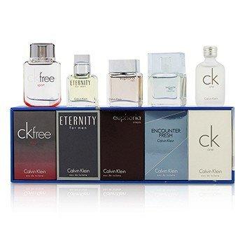 Calvin Klein Miniature Coffret : CK One + Eternity + Euphoria + CK Free Sport + Encounter Fresh  5pcs
