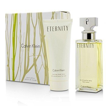 Calvin Klein Eternity Coffret: Eau De Parfum Spray 100ml/3.4oz + Luxurious Body Lotion 100ml/3.4oz  2pcs