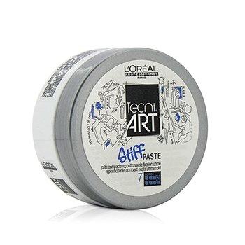 L'Oreal Professionnel Tecni.Art Stiff Paste Repositionable Compact Paste (Ultime Hold - Force 7) 75ml/2.5oz