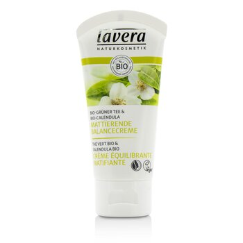 Lavera Organic Green Tea & Calendula Mattifying Balancing Cream (For Combination Skin)  50ml/1.7oz