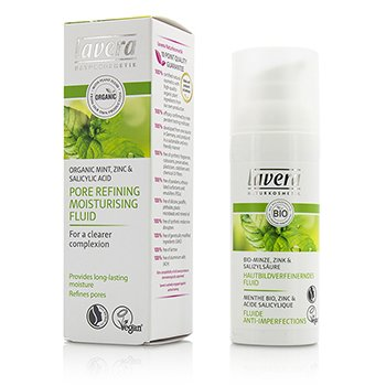 Lavera Organic Mint Pore Refining Moisturising Fluid  50ml/1.6oz