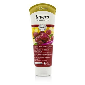 Lavera Organic Cranberry & Argan Oil Regenerating Shower Cream - For Dry To Very Dry Skin (Limited Edition)  225/7.6oz