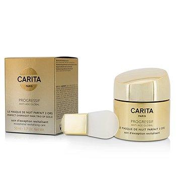 Carita Progressif Anti-Age Global Perfect Overnight Mask Trio Of Gold  50ml/1.7oz