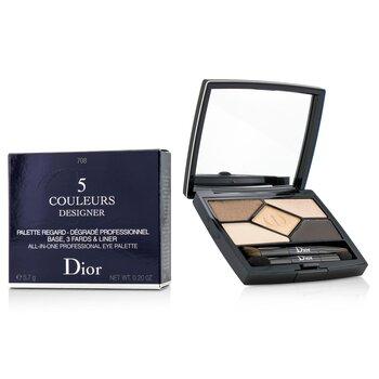 Christian Dior 5 Color Designer All In One Professional Eye Palette - No. 708 Amber Design  5.7g/0.2oz