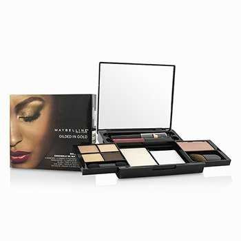 MaybellineMake Up Kit - Gilded In Gold: (4x Shadows, 1x Highlighter, 1x Blush, 1x Eye Liner, 1x Lip Color) -
