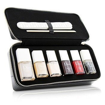 Christian Dior Manucure Couture Collection Edition Voyage Expert Nail Make Up Set (3x Nail Lacquer 1x Base Coat 1x Top Coat 1x Polish Remover 1x Nail File 1x Cuticle Stick 1x Clutch) -