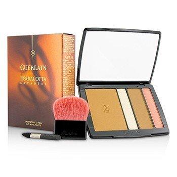 Guerlain Terracotta Bayadere Face & Eyes Palette (2x Bronzing Face Powder  1x Eyeshadow & Highlighter  1x Eyeshadow & Blush  2x Applicator) -