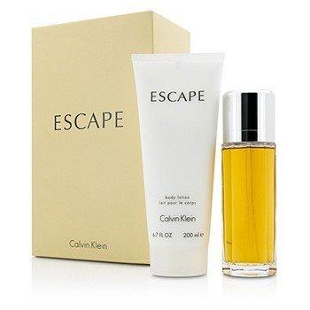 Calvin Klein Escape Coffret: Eau De Parfum Spray 100ml/3.4oz + Body Lotion 200ml/6.7oz  2pcs