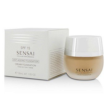 Kanebo Sensai Cellular Performance Anti Ageing Cream Foundation SPF15 - CF13 Warm Beige  30ml/1.05oz