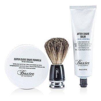 Baxter Of CaliforniaShave 1.2.3 Set: Shave Formula + Balm + Brush 3pcs