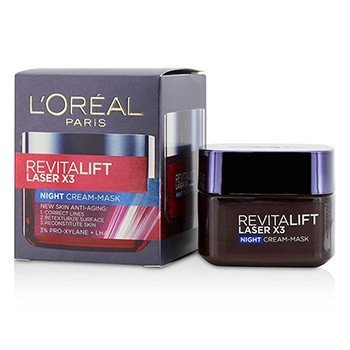 Купить Revitalift Laser x3 New Skin Антивозрастная Ночная Кремовая Маска 50ml/1.7oz, L'Oreal