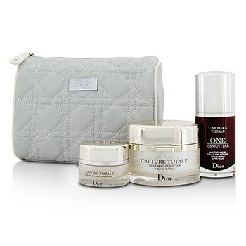 Christian Dior Capture Totale Deep Global Age-Defying Day Ritual Set: Multi-Perfection Creme 60ml+One Essential 30ml+Eye Treatment 15ml+Bag  3pcs+1bag