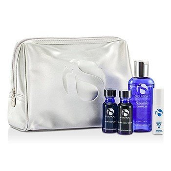 IS Clinical For Men Kit System: Cleansing Complex + Active Serum + Hydra-Cool Serum + Extreme Protect SPF30 + Bag (Exp. Date: 12/2016)  4pcs+bag