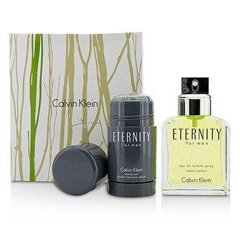Calvin Klein Eternity Coffret: Eau De Toilette Spray 100ml/3.4oz + Deodorant Stick 75g/2.6oz  2pcs