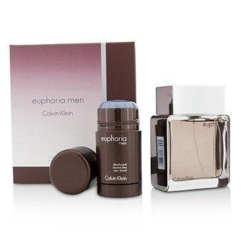 Calvin Klein Euphoria Coffret: EDT Spray 100ml/3.4oz + Deodorant Stick 75g/2.6oz 2pcs