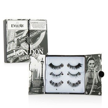 Eylure The London Edit False Lashes Multipack Duo Pack - # 121  # 117  # 154 (Adhesive Included) 2x3pairs