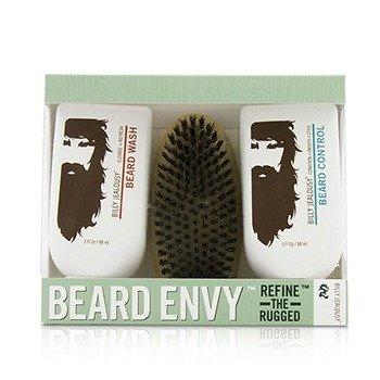 Купить Beard Envy Набор: Средство для Мытья Бороды 88мл + Контроль Бороды 88мл + Щетка 1шт 3pcs, Billy Jealousy