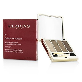 Clarins 6.9g/0.2oz 4 Colour Eyeshadow Palette (Smoothing & Long Lasting) - #03 Brown 6.9g/0.2oz