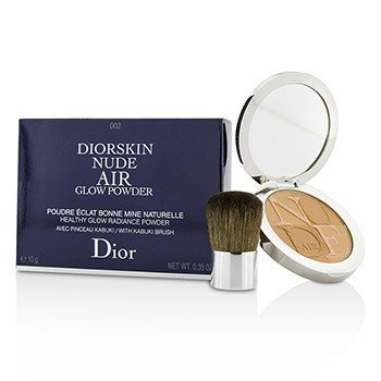 Image of Christian Dior Diorskin Nude Air Healthy Glow Radiance Powder With Kabuki Brush   002 Fresh Light 10g0.35oz
