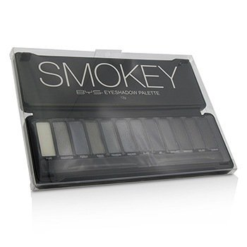 BYS Eyeshadow Palette (12x Eyeshadow  2x Applicator) - Smokey 12g/0.42oz
