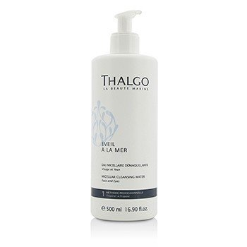 Thalgo Eveil A La Mer Micellar Cleansing Water (Face & Eyes) - For All Skin Types  Even Sensitive Skin (Salon Size) 500ml/16.9oz