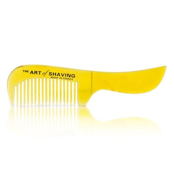 The Art Of Shaving Horn Mustache Comb - Black Suedine 1pc 21053491721