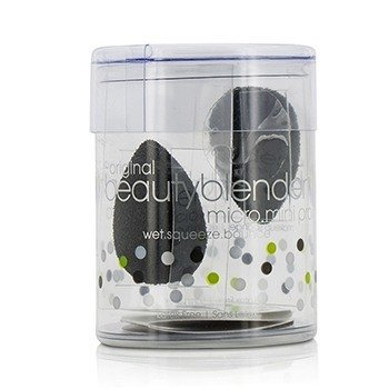 BeautyBlender BeautyBlender Micro Mini Set (2x Mini BeautyBlender) - Pro (Black) 2pcs