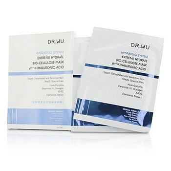 DR.WU Hydrating System Extreme Hydrate Bio-Cellulose Mask With Hyaluronic Acid (Exp. Date 10/2017) 3pcs