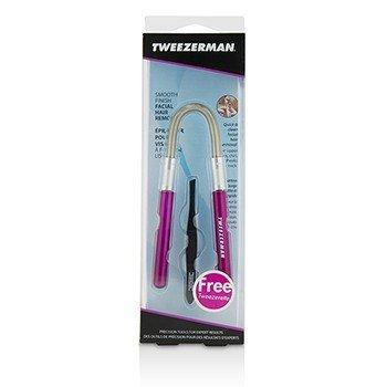 Купить Smooth Finish Средство для Удаления Волос на Лице - Розовый (с Черным Скошенным Пинцетом) 2pcs, Tweezerman