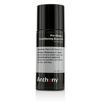 Anthony Logistics For Men Pre-Shave + Conditioning Beard Oil - For All Skin Types 59ml/2oz
