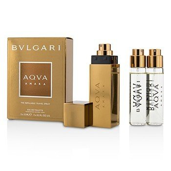 Bvlgari Aqva Amara The Refillable EDT Travel Spray 3x15ml/0.5oz  men