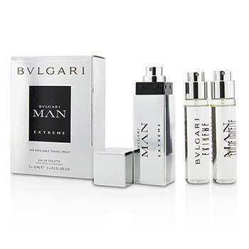 Bvlgari Man Extreme The Refillable EDT Travel Spray 3x15ml/0.5oz  men