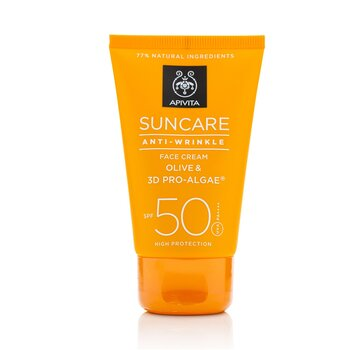 Image of Apivita Suncare Anti-Wrinkle Face cream SPF 50 50ml
