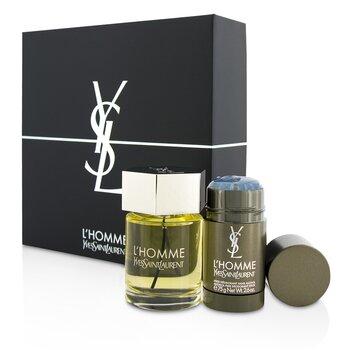 Купить L'Homme Набор: Туалетная Вода Спрей 100мл/3.3унц + Дезодорант Стик 75г/2.6унц 2pcs, Yves Saint Laurent