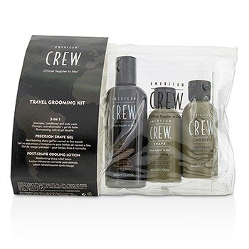 American Crew Travel Grooming Kit: Men Classic 3-IN-1 Shampoo  Conditioner & Body Wash 100ml + Precision Shave Gel 50ml + Post Shaving Cooling Lotion 50ml 3pcs 21536999914