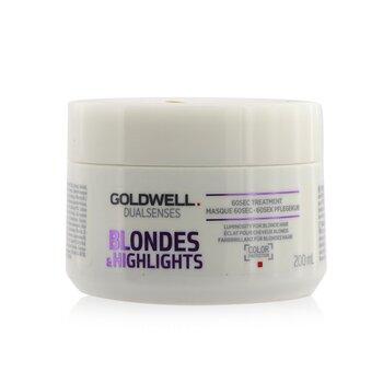 Купить Dual Senses Blondes & Highlights 60сек Средство для Волос (Сияние для Светлых Волос) 200ml/6.8oz, Goldwell