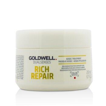 Купить Dual Senses Rich Repair 60Сек Средство для Волос (Регенерация для Поврежденных Волос) 200ml/6.7oz, Goldwell