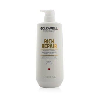 Купить Dual Senses Rich Repair Восстанавливающий Шампунь (Регенерация для Поврежденных Волос) 1000ml/33.8oz, Goldwell