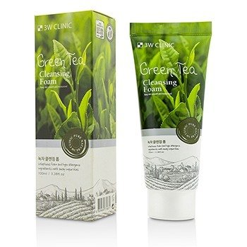 Image of 3W Clinic Cleansing Foam - Green Tea 100ml/3.38oz