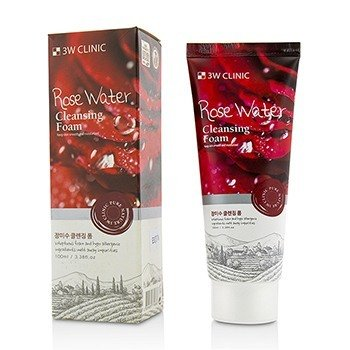 Image of 3W Clinic Cleansing Foam - Rose Water 100ml/3.38oz