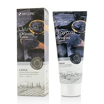 Image of 3W Clinic Cleansing Foam - Charcoal 100ml/3.38oz