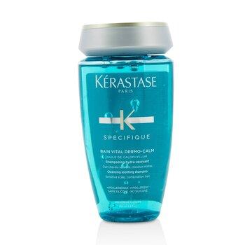 Купить Specifique Bain Vital Dermo-Calm Очищающий Успокаивающий Шампунь (для Чувствительной Кожи Головы и Комбинированных Волос) 250ml/8.5oz, Kerastase