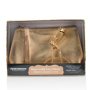 Купить Rose Gold Love Story Подарочный Набор 2pcs+1bag, Tweezerman